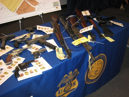 Gangster Tools:  Table-O-Guns Seized in Joint Task Force Raid on Drew Street Clique
