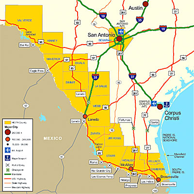 Map of South Texas Border Shows Problem of Trafficking Graphically