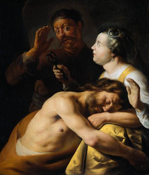 "Delilah's Embrace Can Be Deadly in Prison (""Samson and Delilah,"" School of Rembrandt, c. 1630, Rijksmuseum)"
