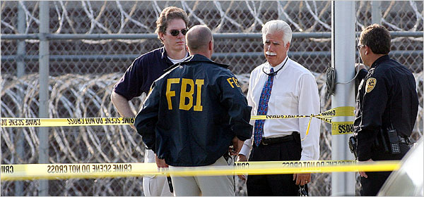Federal Agents At Scene After 2006 Shootout at FCI near Tallahassee, Florida