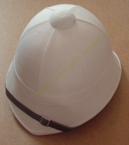 White Pith Helmet of Type Worn by British Soldiers in 19th Century
