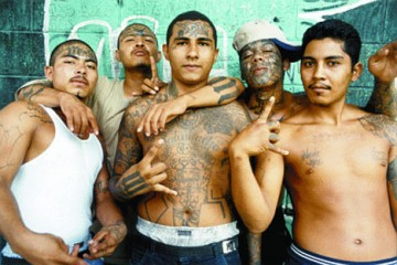 "MS-13 Gangsters ""Throwing"" Devil's Horn Gang Sign"