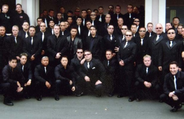 Members and Associates of the United Nations (UN) Gang.  Clayton Roueche is in First Row Center. (Vancouver Sun Photo)
