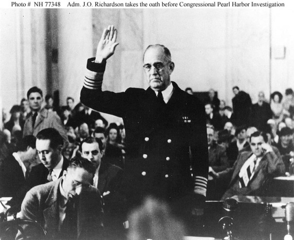 Admiral James O. Richardson Testifies Before Congress On His Career-Ending Opposition to Forwad Basing of U.S. Fleet at Pearl Harbor
