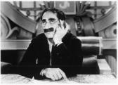 Groucho Marx ponders his next move in Duck Soup . Scanned in from Bee File