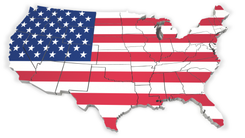 US Flag map