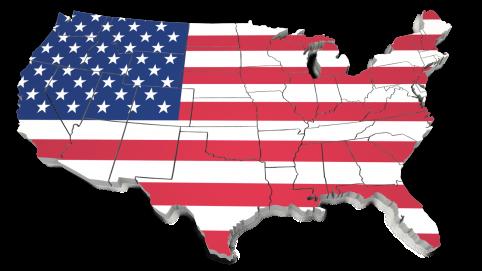 US Flag map