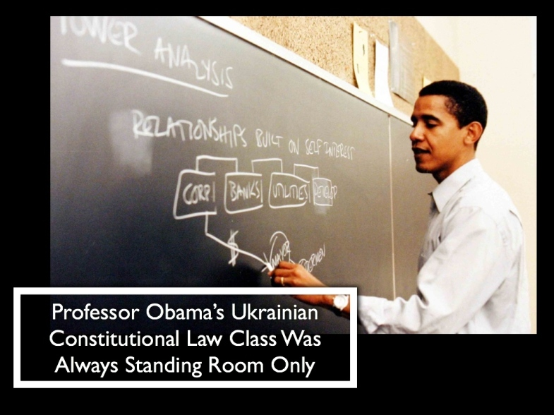 Professor Obama's Class On Ukrainian Constitutional Law